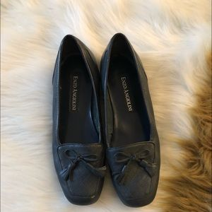 Enzo Angiolini Navy Blue Loafers